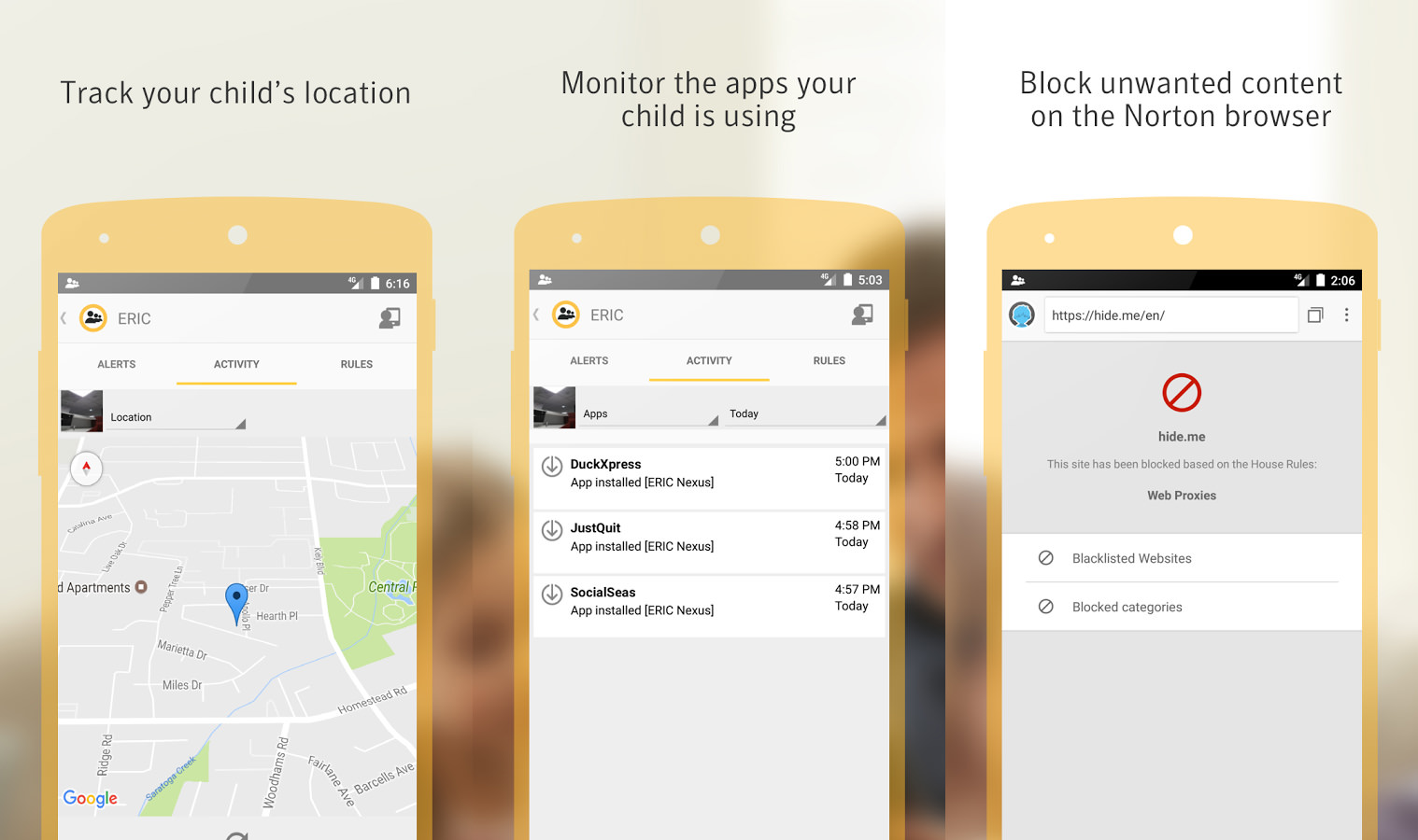 Norton cell phone monitoring