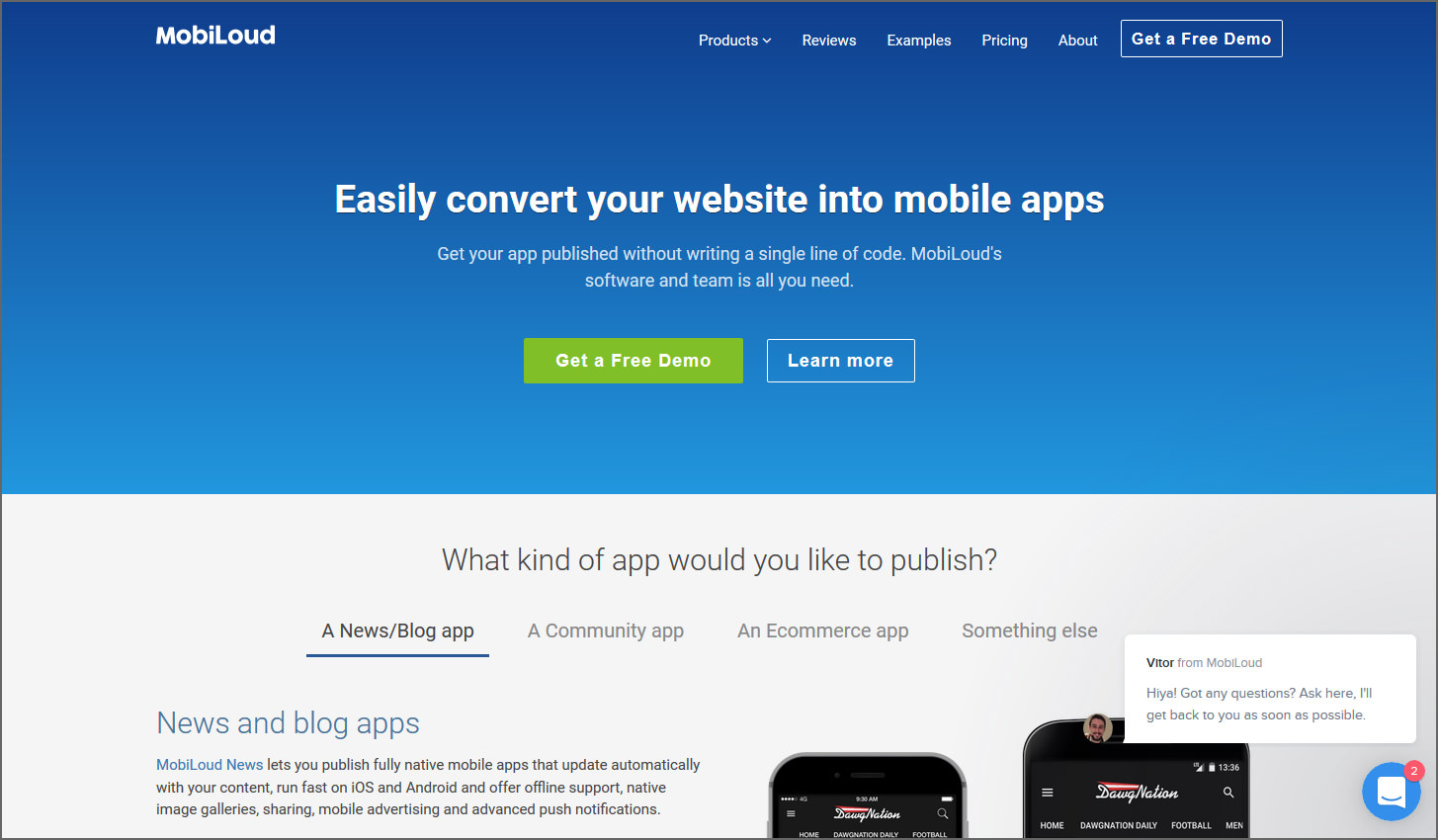 MobiLoud Canvas is our latest product designed to convert any mobile optimized WordPress site into mobile apps, including directory sites, conference and ...
