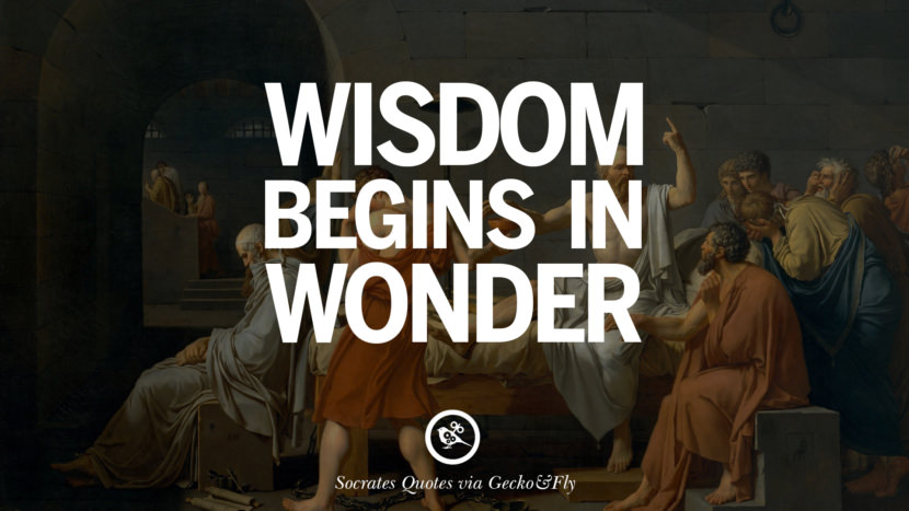 Wisdom begins in wonder. Quotes By Socrates On The Purpose And Wisdom Of Life