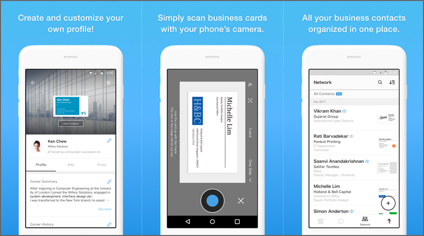 9 business card scanner and organizer apps for iphone and android eight business card organizer reheart Images
