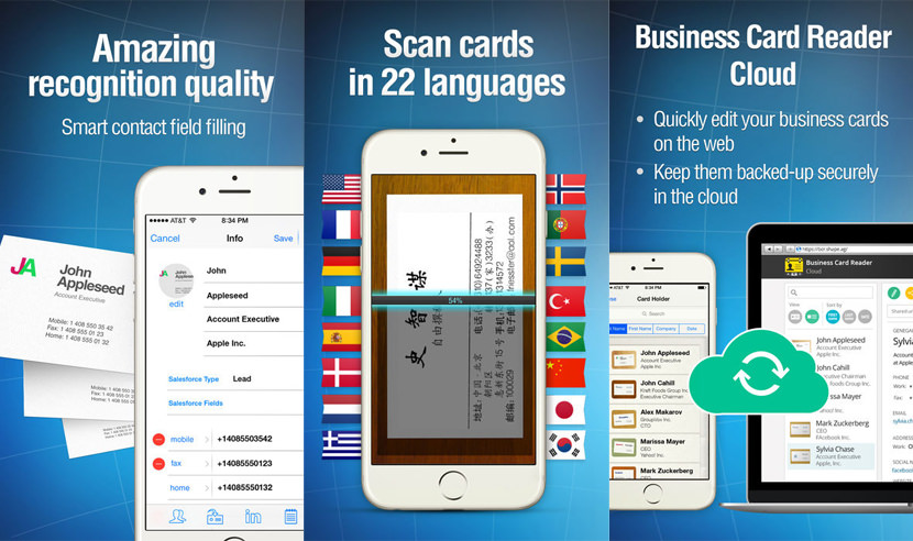9 business card scanner and organizer apps for iphone and android shape business card reader reheart Gallery