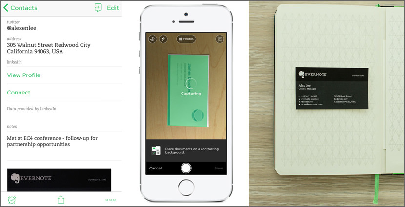 Evernote Business Card Scanning