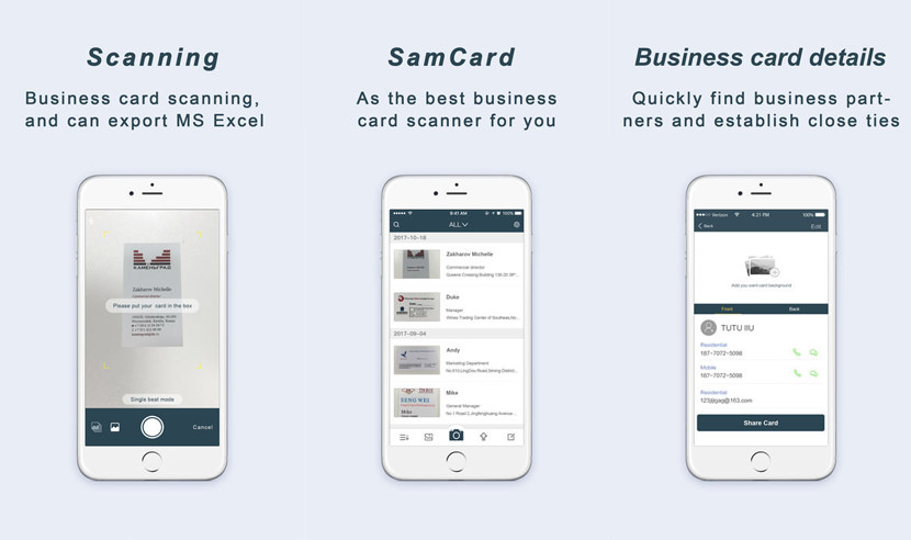 9 business card scanner and organizer apps for iphone and android samcard business card scanner colourmoves