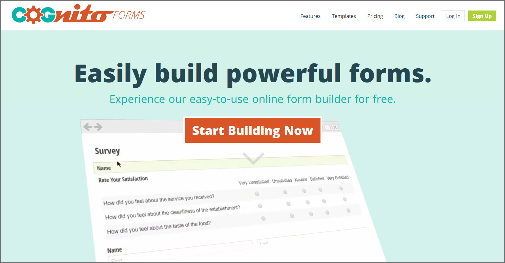 5 free google forms alternatives beautifully crafted online cognito forms is an easy drag and drop form builder that creates intuitive and responsive online forms forms can be quickly created from scratch or from pronofoot35fo Choice Image