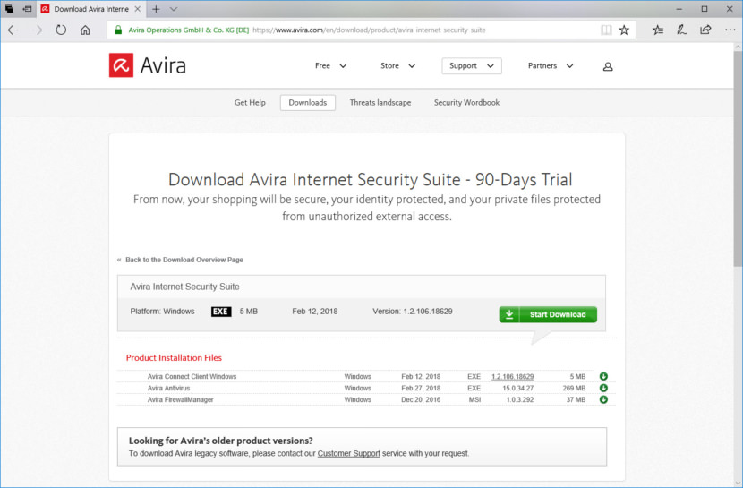 Download Avira Internet Security Suite