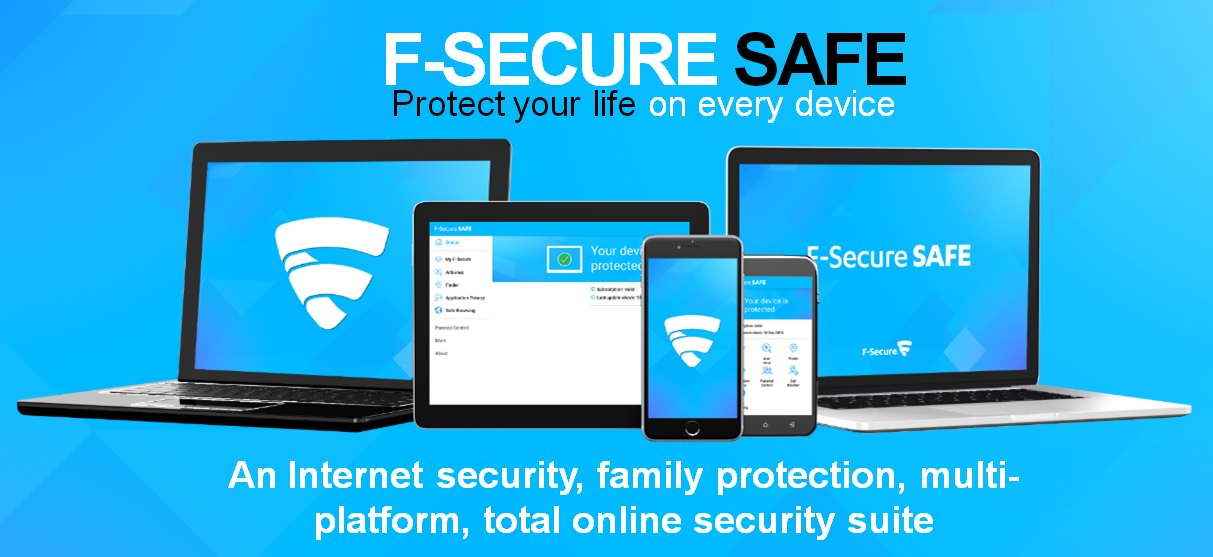 F-Secure SAFE 1 Year Activation - Free Internet Security for PCs