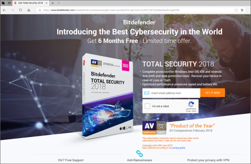 Download Bitdefender Total Security 2018 Free For 6 Months