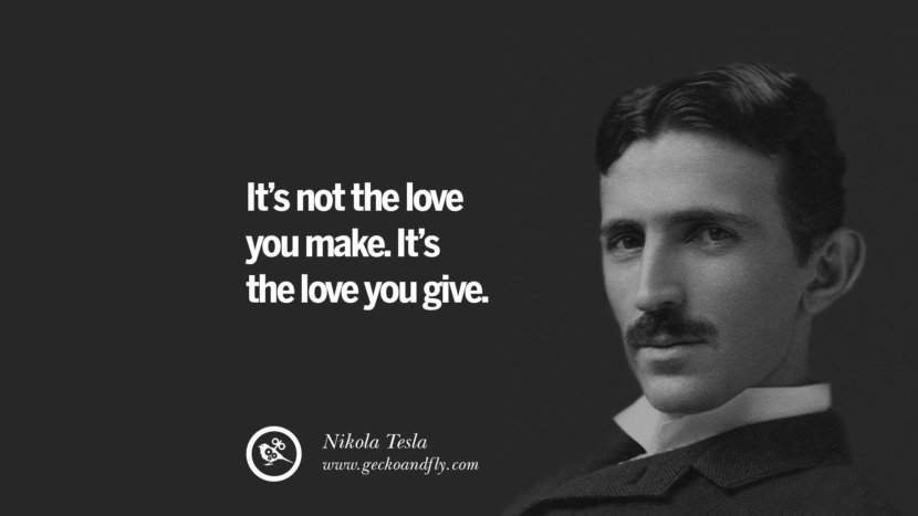 It's not the love you make. It's the love you give.