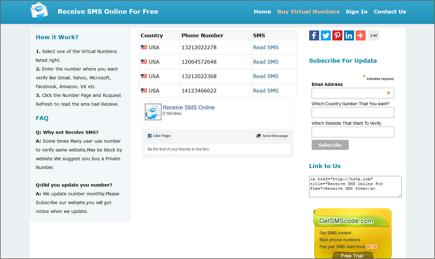 8 Websites To Receive Free SMS Via Virtual Numbers For Online