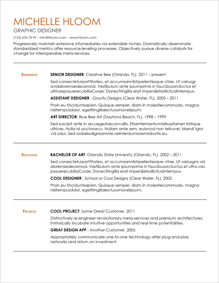 45 Free Modern Resume / CV Templates - Minimalist, Simple ...