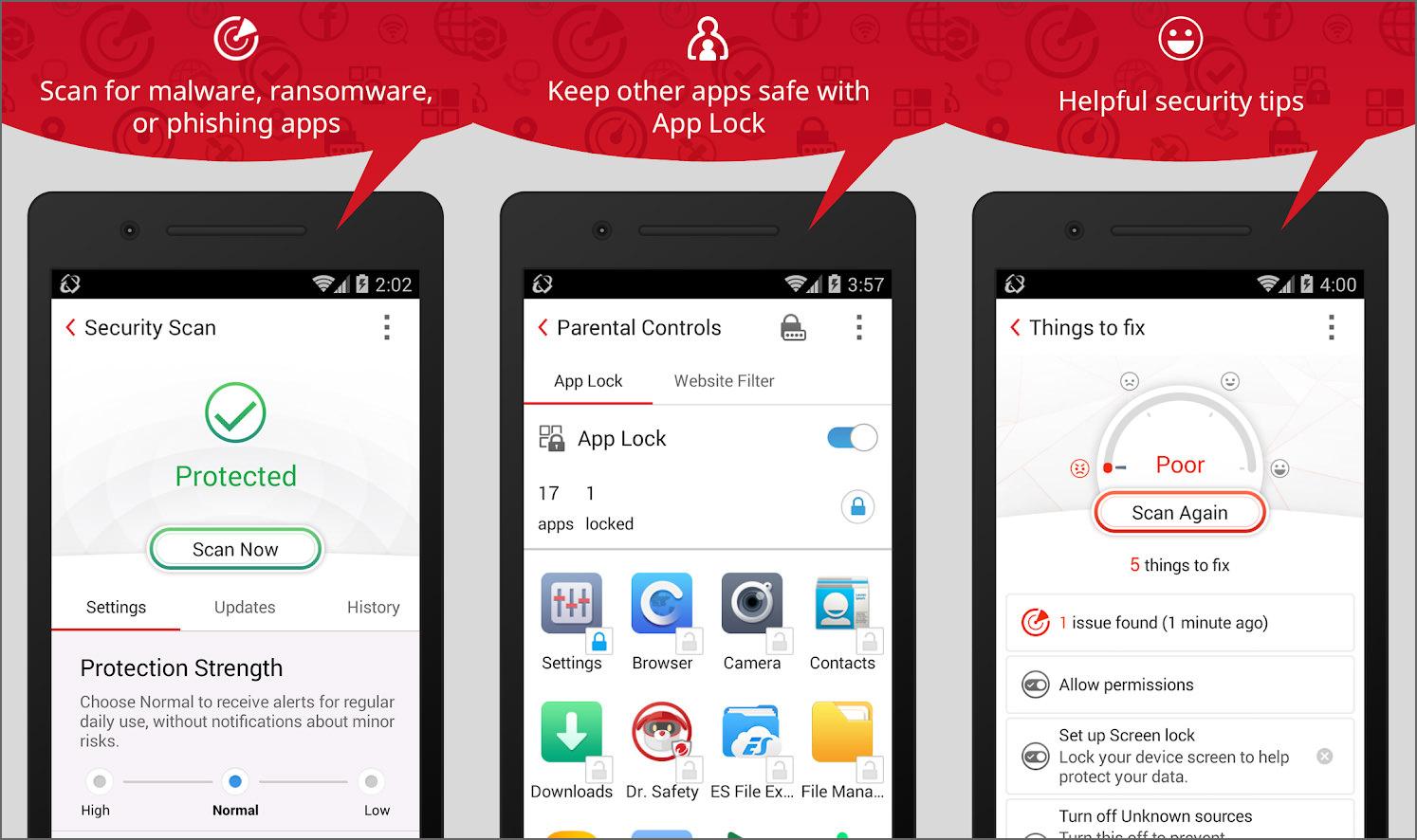 26 Best Android Antivirus - Free Anti-Theft, AppLock, Call
