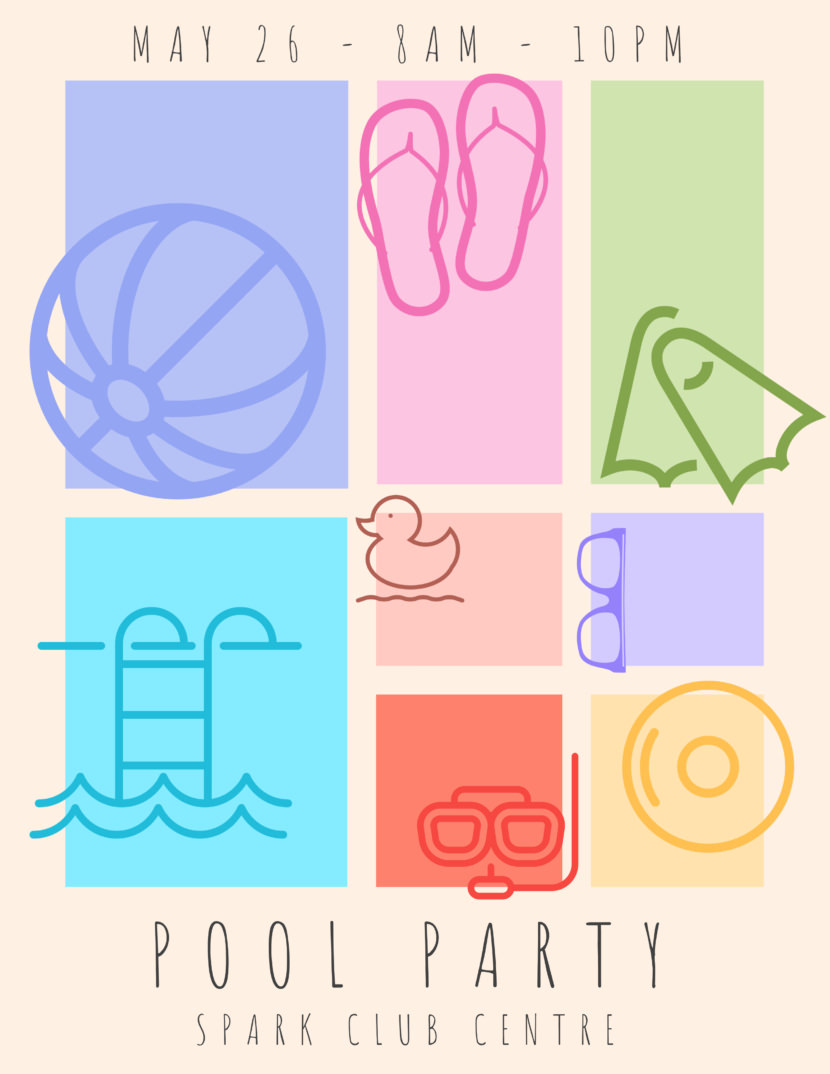 pool party Free Poster And Flyer Templates
