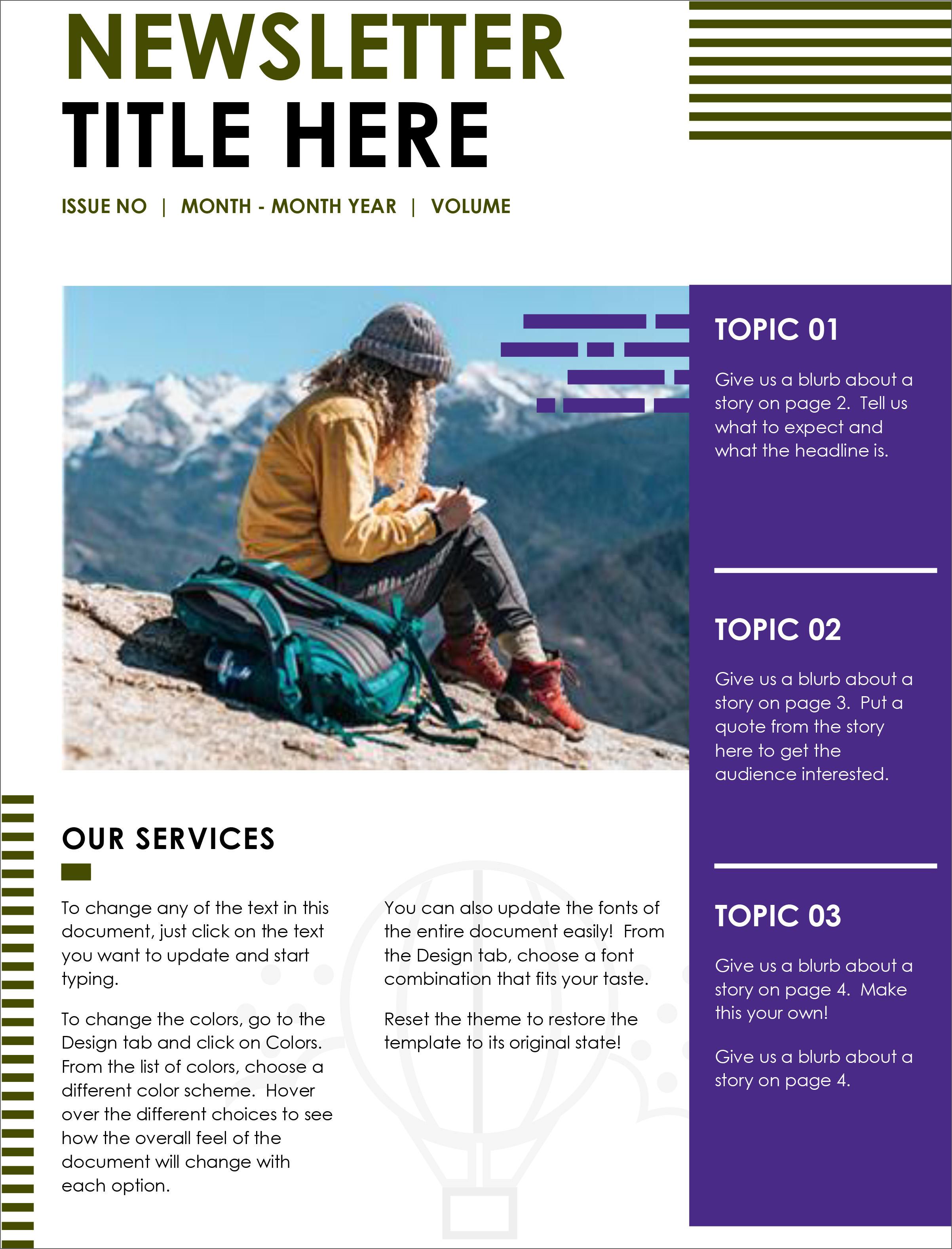 Newsletter Free Template from cdn2.geckoandfly.com