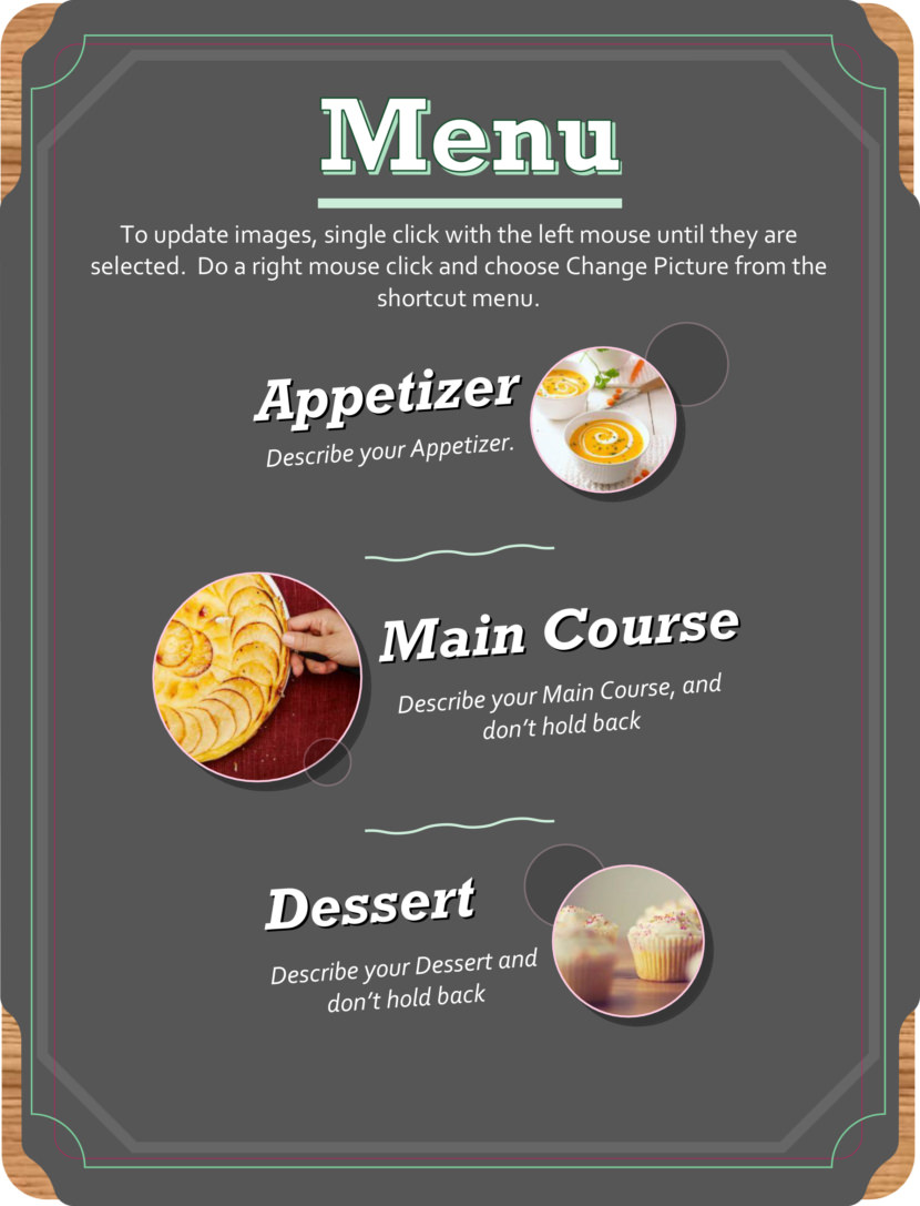 Free Simple Menu Templates For Restaurants