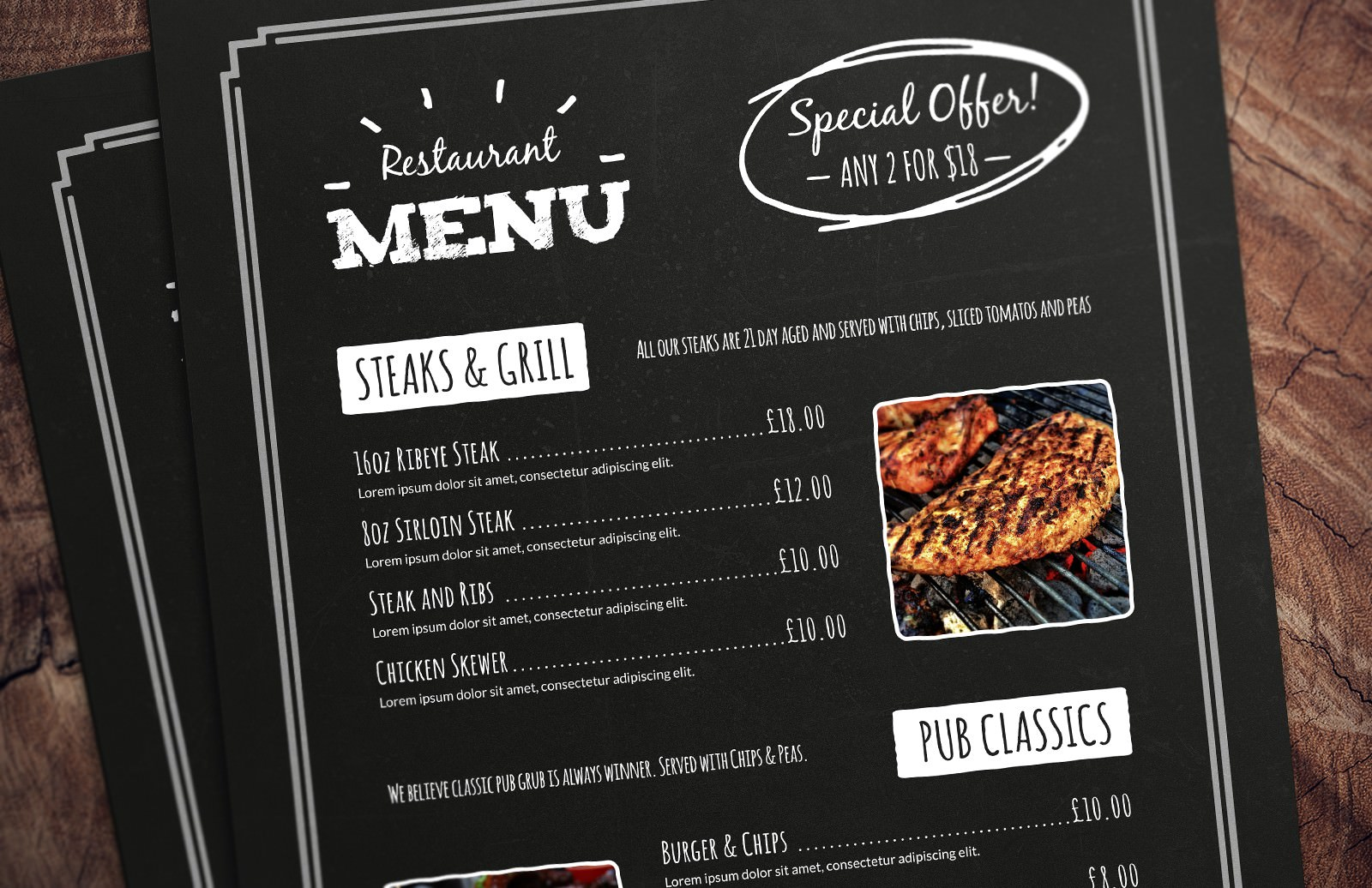 21 Free Simple Menu Templates For Restaurants, Cafes, And Parties Regarding Free Cafe Menu Templates For Word