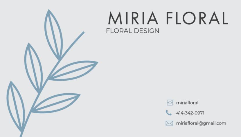 Screenshot of blank florist design Business Card Template