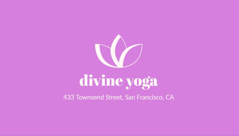 Screenshot of blank Yoga Business Card Template