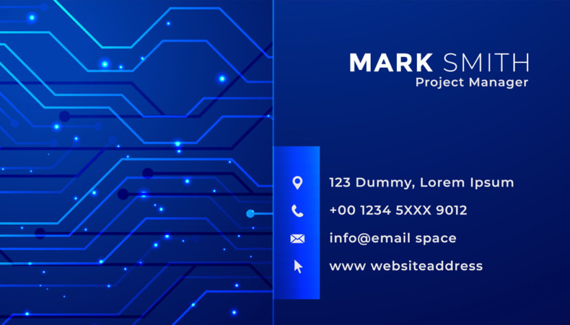 Screenshot of blank Technology Project Manager Business Card Template