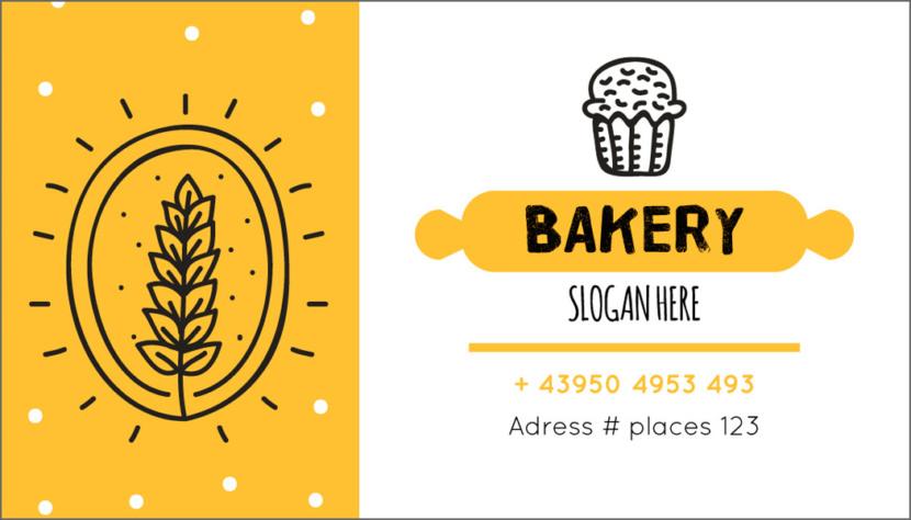 Screenshot of blank Baking Business Card Template