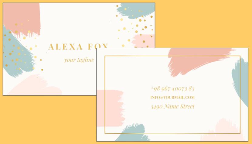 Screenshot of blank Elegant Business Card Template
