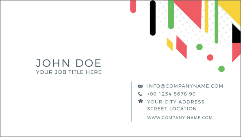 Screenshot of blank Abstract Business Card Template