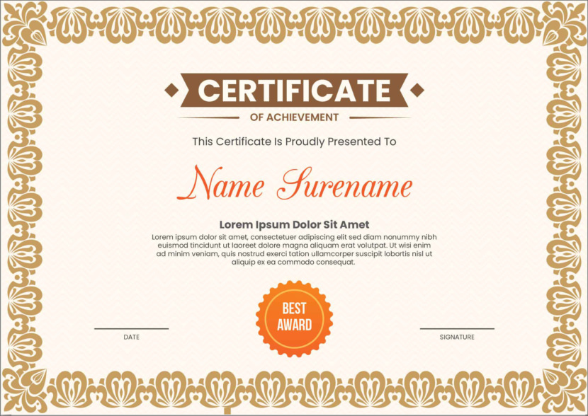 Educational Blank Certificate Templates