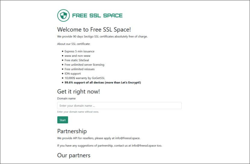 Free SSL Space