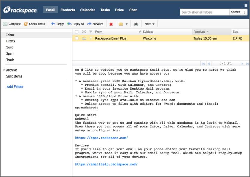 Rackspace Mail Enterprise Email Provider For Business