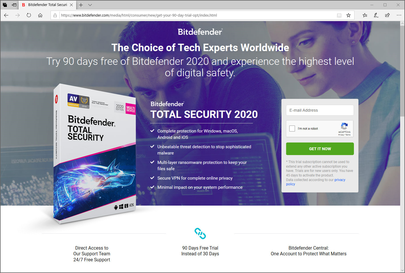 bitdefender total security 2018 90 days free trial