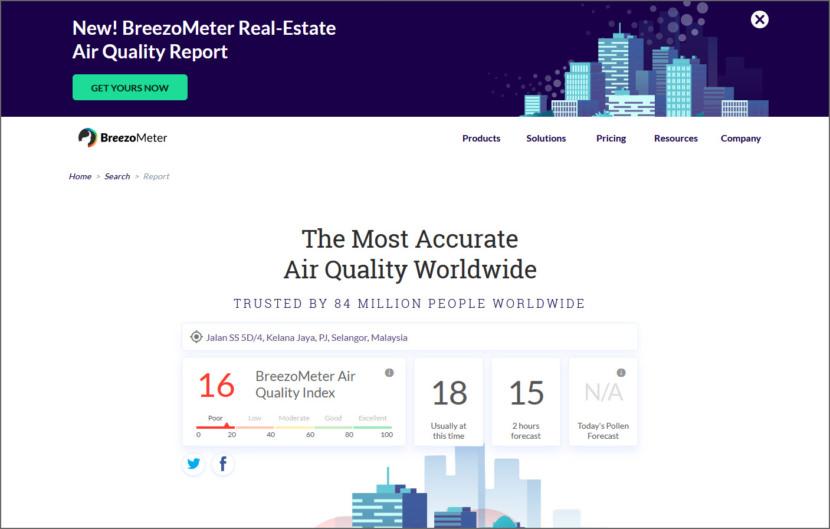 BreezoMeter Air Quality Index
