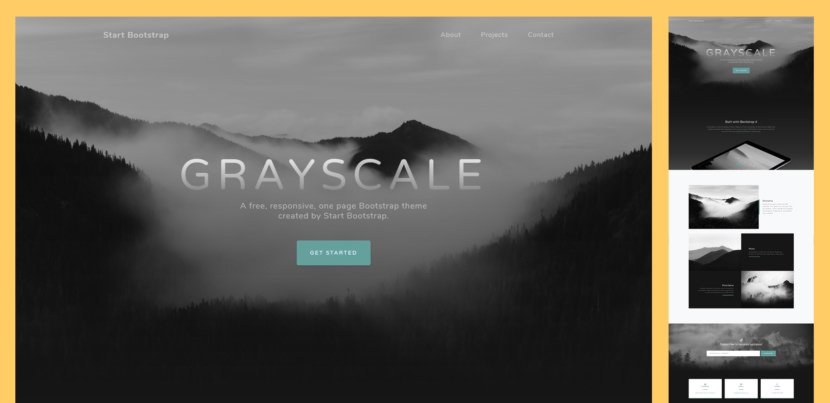 Grayscale is a multipurpose, one page website theme featuring a dark layout along with smooth scrolling page animations.