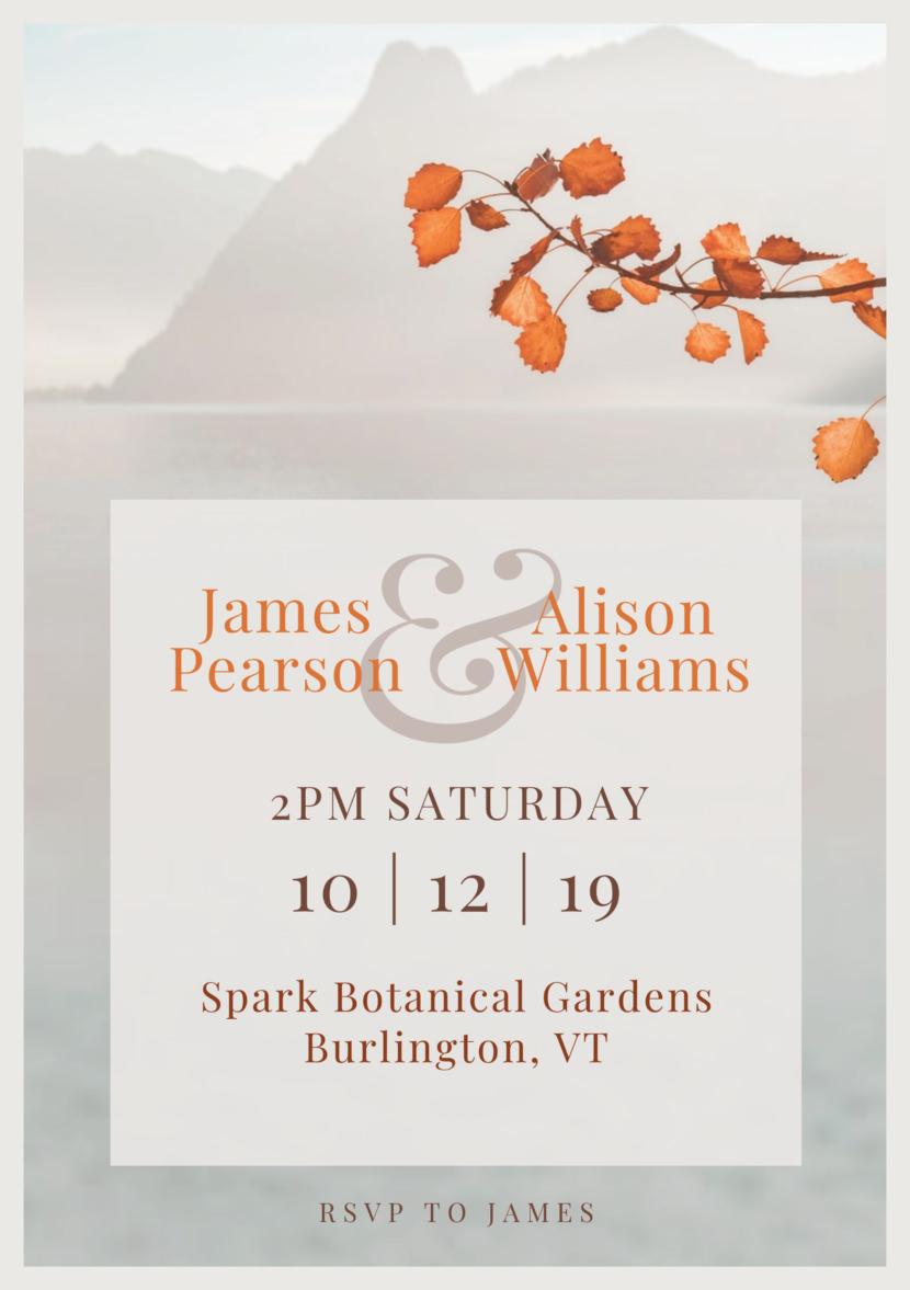 Wedding Invitation Templates - Printable Editable