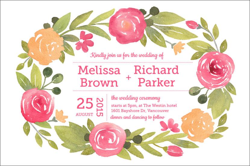 Editable Wedding Invitation Template Printable And Editable PSD