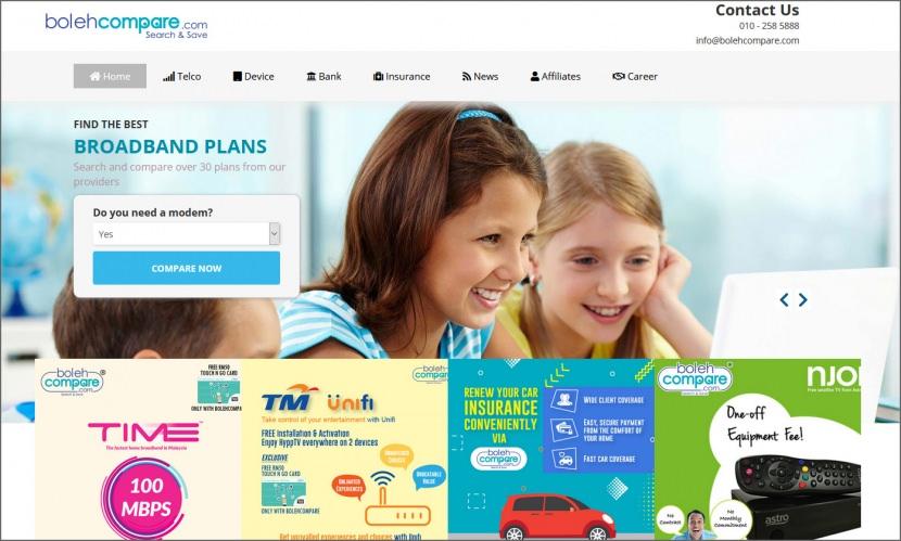 BolehCompare compare mobile data plan maxis celcom digi umobile yes in Malaysia