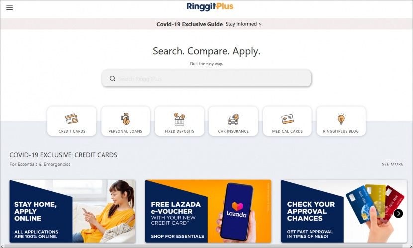 ringgitplus compare credit card personal loans fixed deposit insurance in Malaysia